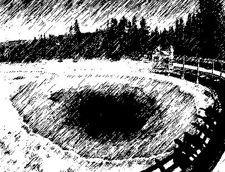 Горячее озеро Утренней славы в США. Фотографии