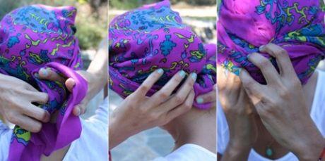 Как завязать платок «чалмой» на голове