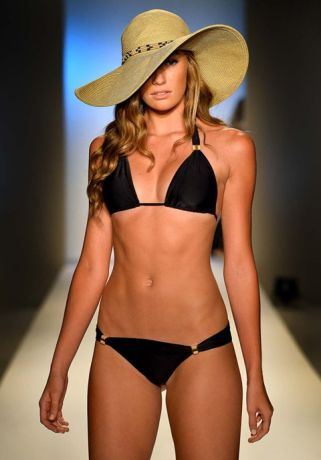 model walks the runway at the ViX Paula Hermanny show. (Frazer Harrison/Getty Images for Mercedes-Benz Fashion Week Swim 2014)