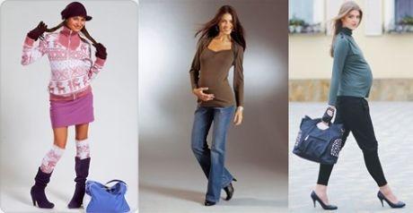 как одеться беременной осенью фото