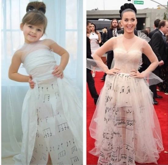 Точные копии платьев знаменитостей для дочки